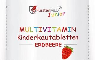 Multivitamin Kautabletten für Kinder mit Erdbeergeschmack
